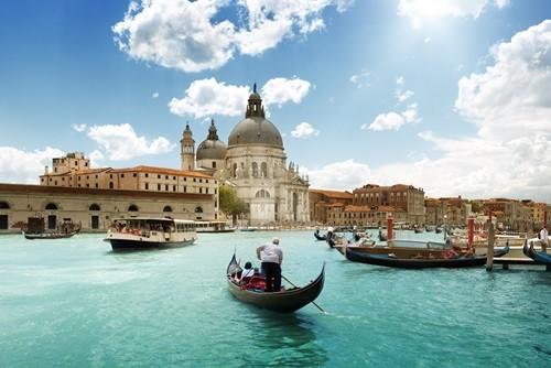 Grand Canal and Basilica Santa Maria Venice