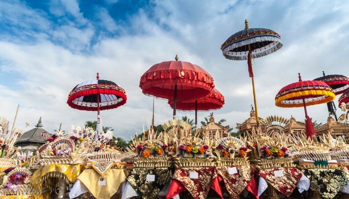 Melasti Ceremony Bali, Indonesia