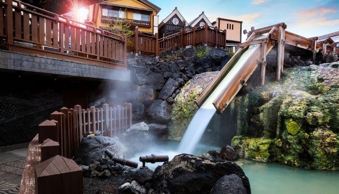 Yubatake Hotspring, Japan