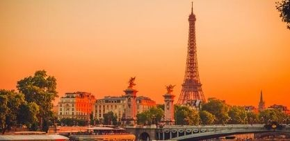 See the Sunset from the Eiffel Tower