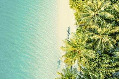 Aerial view of tropical island,Maldives