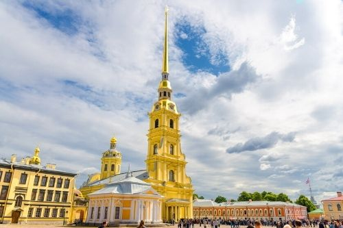 peter paul cathedral st petersburg, Russia