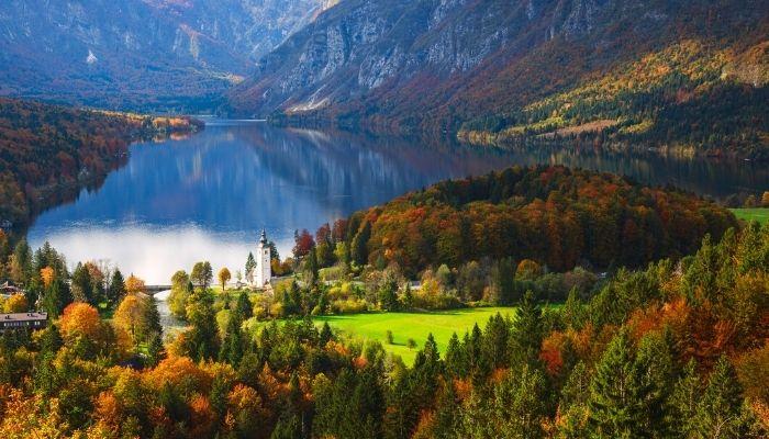 Bohinj Lake, Julian Alps, Slovenia
