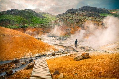 Geothermal area Krysuvik Seltun, Iceland