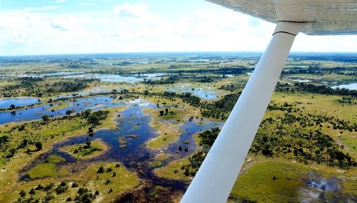 Flying safari in Africa