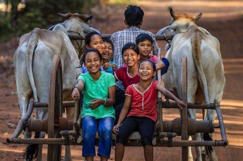 Laughing children, Siem Reap