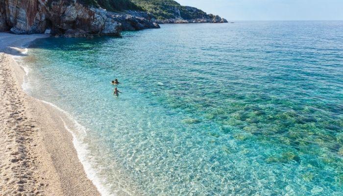 Clear waters in Greece