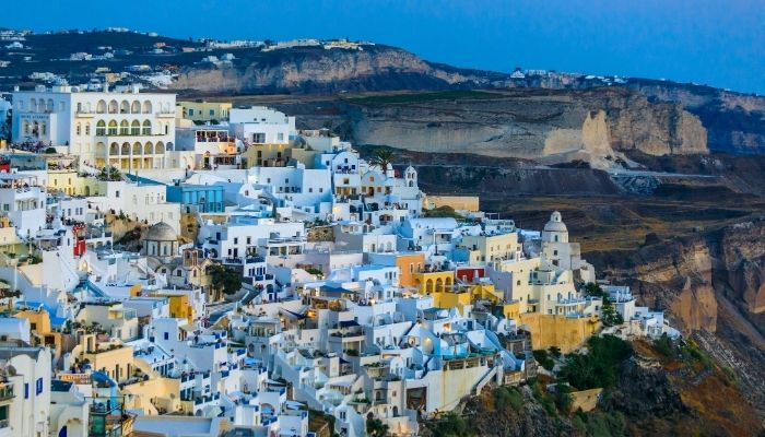 Fira in the evening
