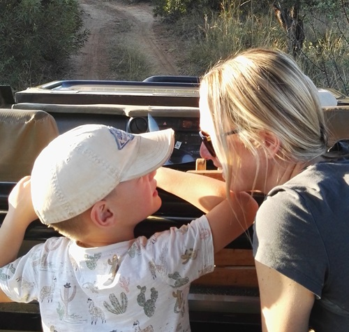 Elaine and Ben on safari
