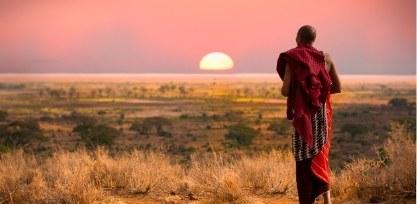 Masai man in Tanzania, Serengeti