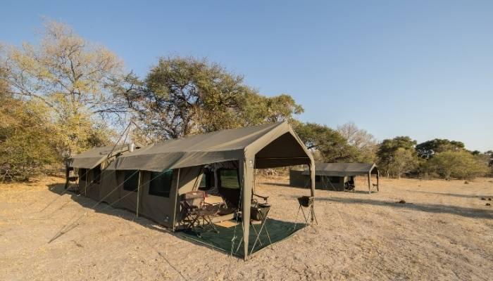 Mobile tented camp, Botswana
