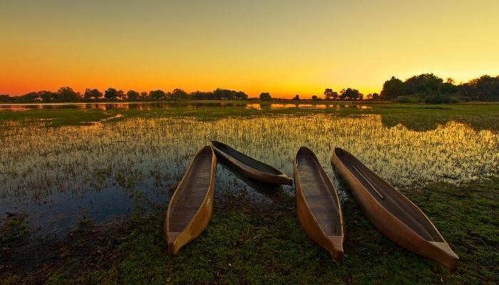 Okavango Delta, Sunset