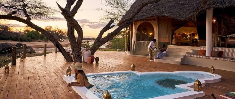 Honymoon suite at Sasaab Lodge, Kenya