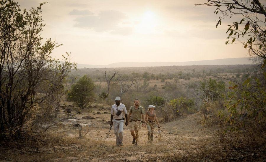 Walking safari Kiba Point Selous