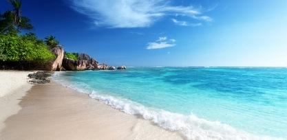 White sand beach, Seychelles