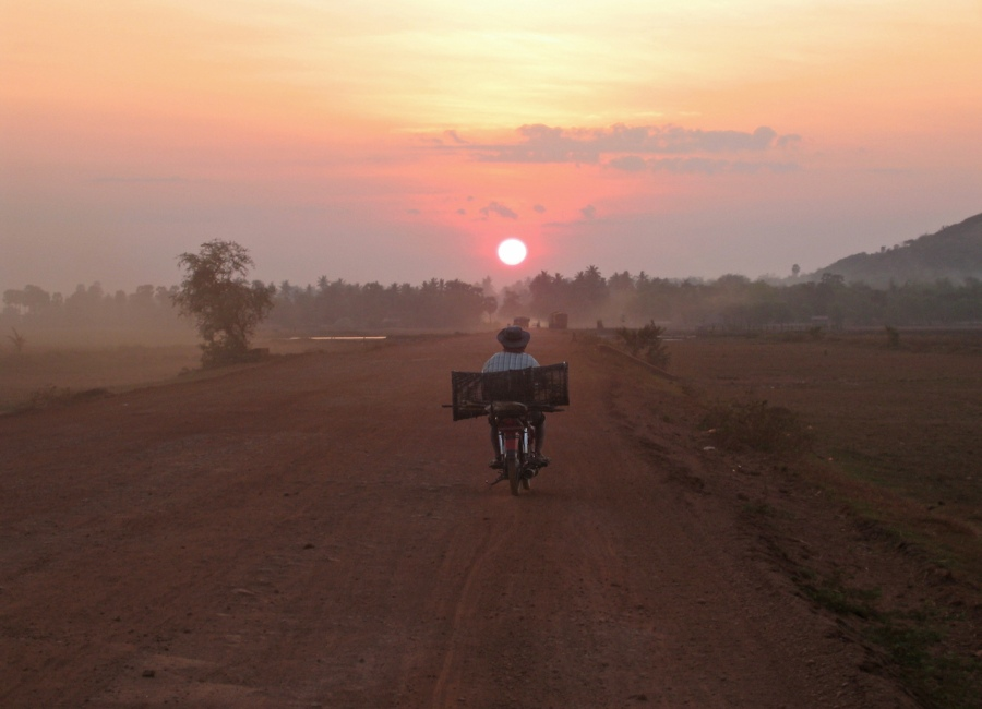 Red earth in rural Cambodia