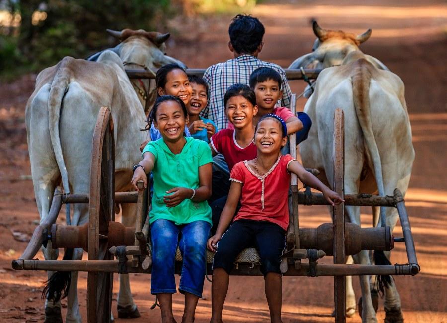 Smiling children, Battambang, Cambodia