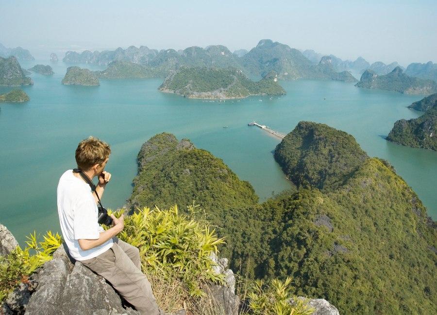 Viewpoint on Cat Ba island, Vietnam