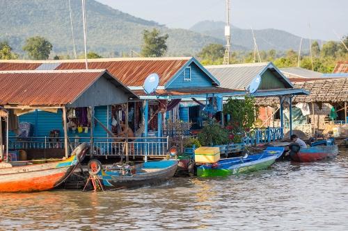 Floating village, Kampong Chhnang, Cambodia