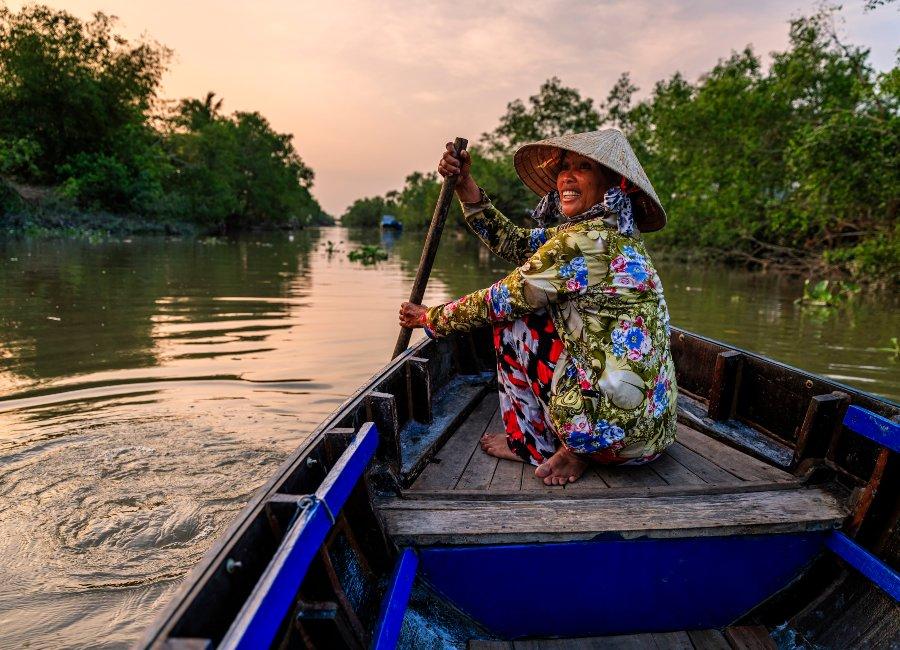 River guide, Mekong Delta, Vietnam