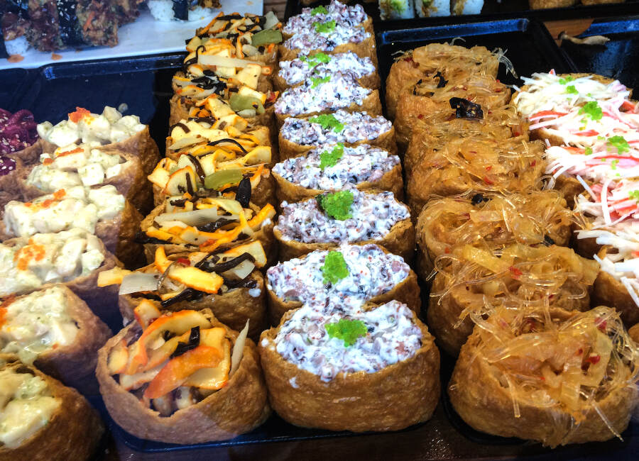 Sweet treats in a Japanese food market