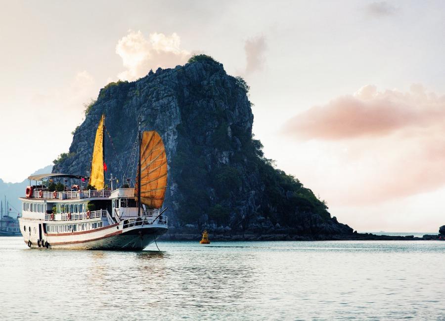 Luxury small ship cruise in Halong Bay, Vietnam