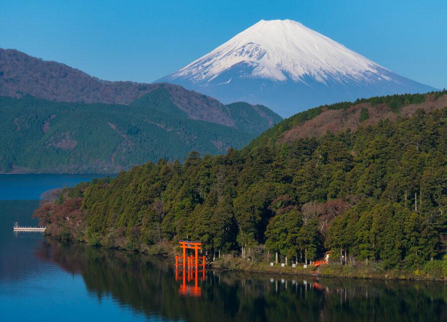Fuji and Ashi Lake, Hakone, Japan