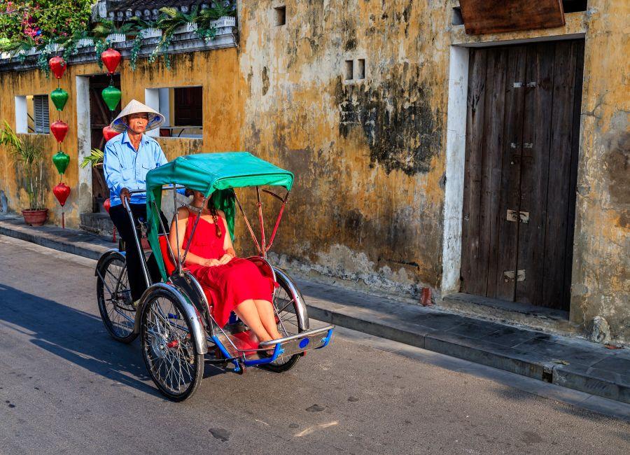 Cyclo taxi in Hoi An, Vietnam