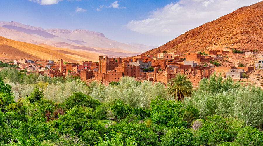 Kasbah and village in Morocco