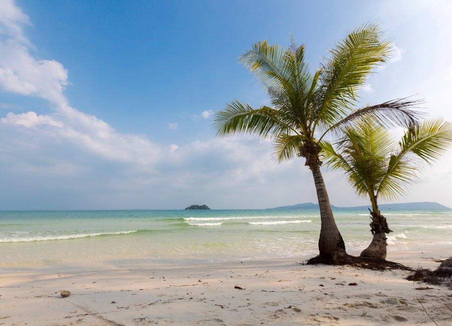 Beach on Koh Rong, Cambodia
