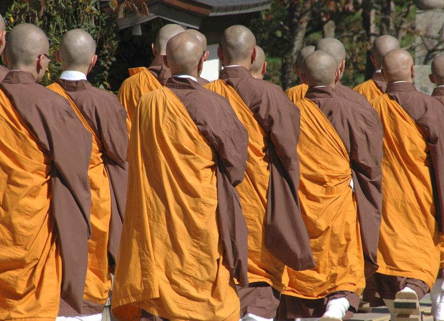 Buddhist monks, Koya-san, Japan