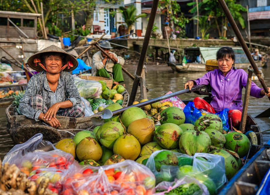 Floating Market, Cai Rang, Vietnam