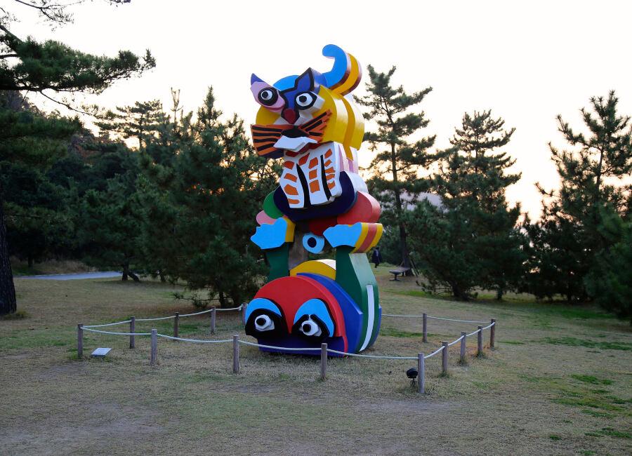 Sculpture in Naoshima, Japan