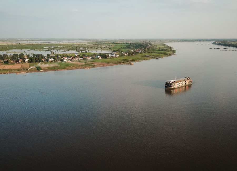 Luxury cruise on the Mekong River, Cambodia