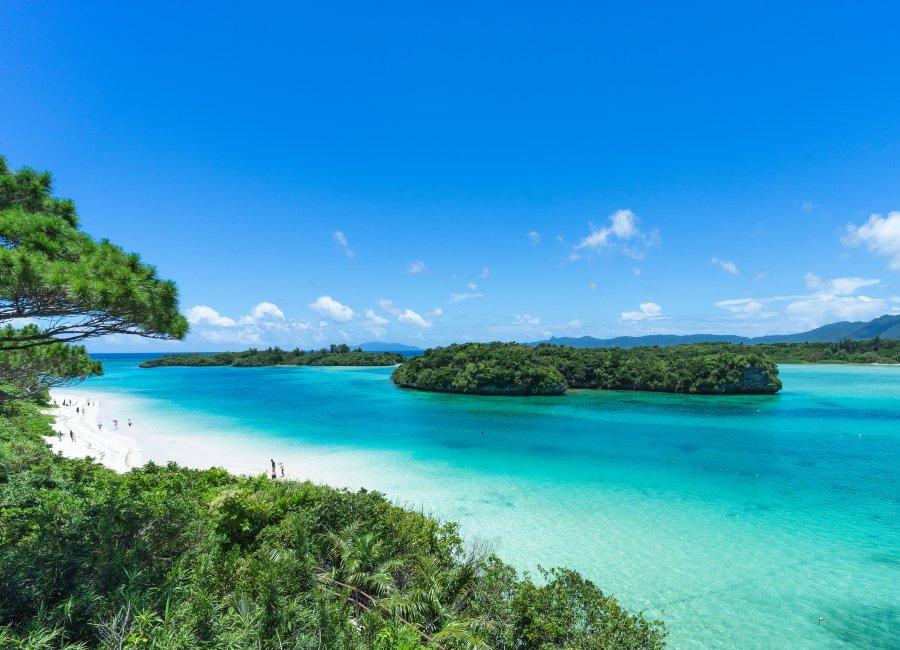 Tropical beach in Okinawa, Japan