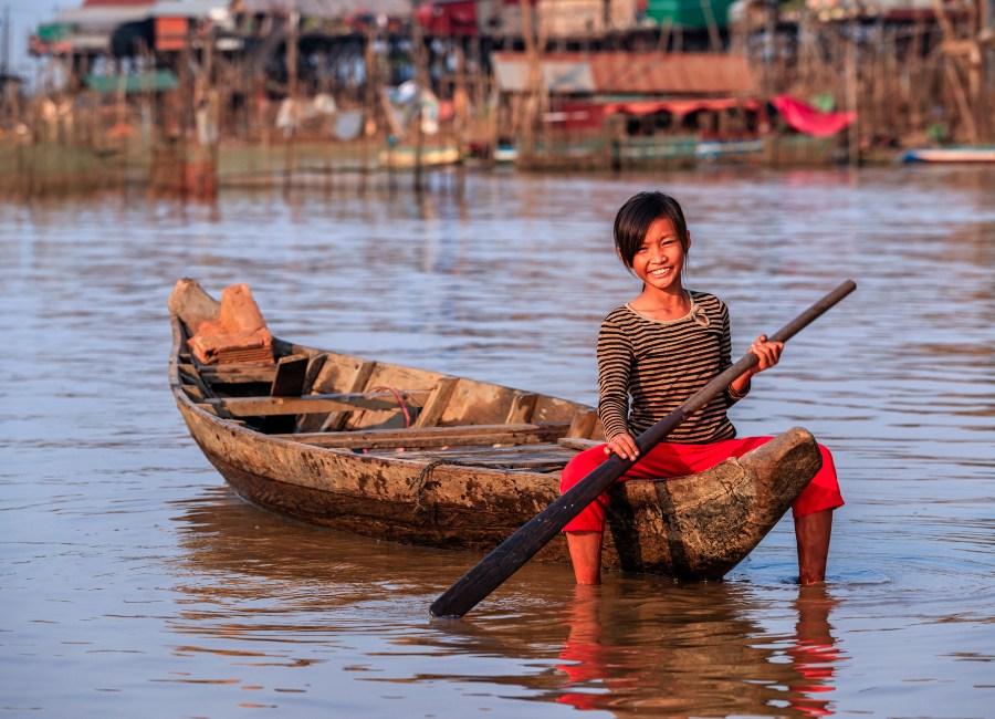 Village life on Lake Tonle Sap, Cambodia