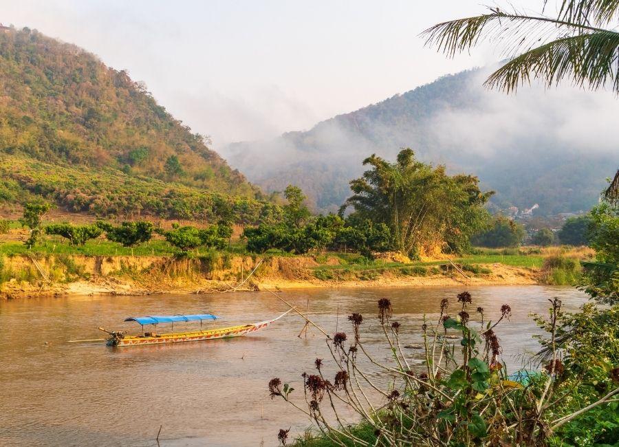 Golden Triangle , River Kok, Chiang Rai, Thailand