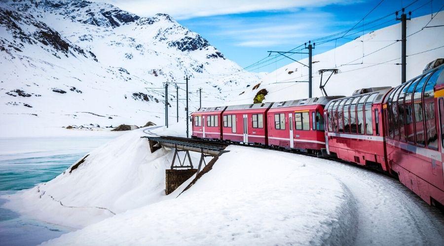 Switzerland, Glacier Express Train