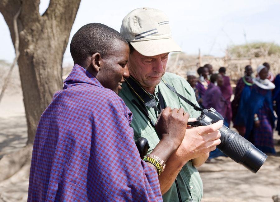 Masai and tourist