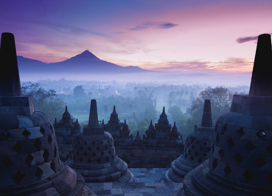 Sunrise at Borobudur, Java