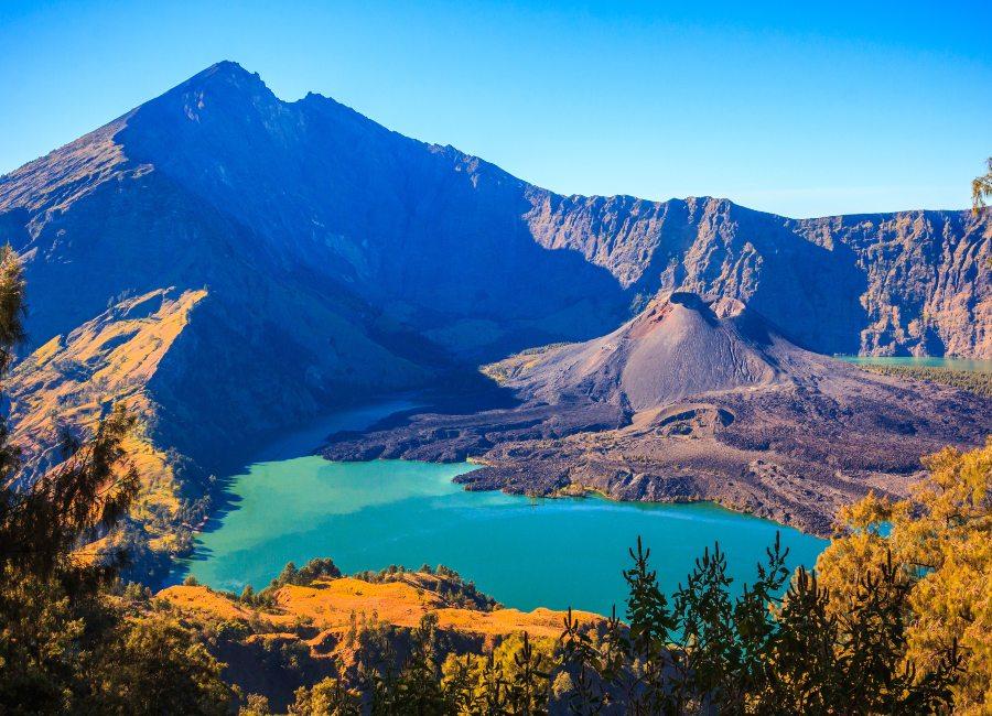Panorama view of Mountain Rinjani, Lombok, Indonesia