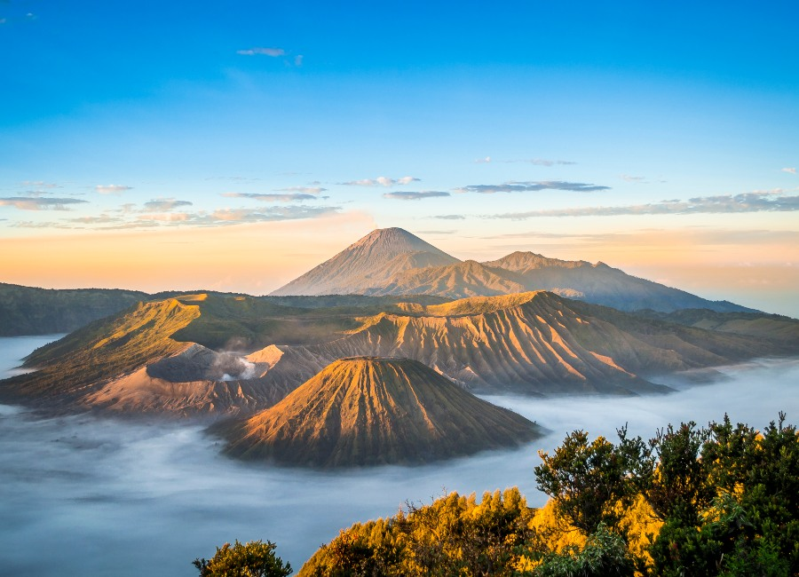 Overview of the Bromo caldera, Java