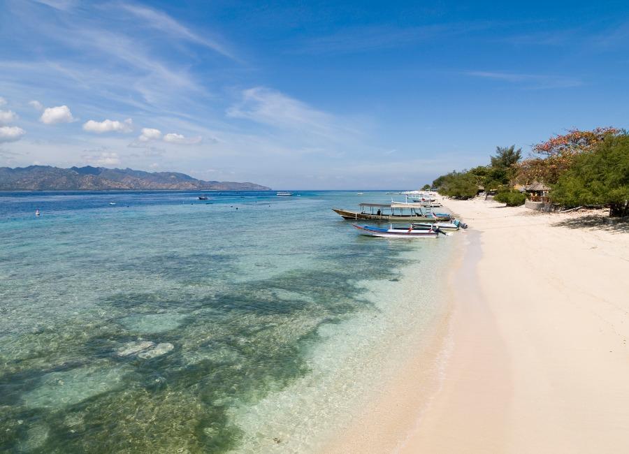 Quiet beach, Gili Meno, Lombok