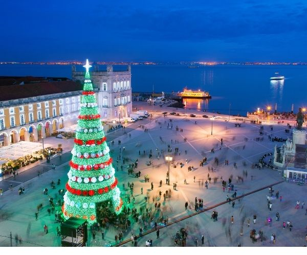 Portugal in Winter, Christmas lights in Lisbon